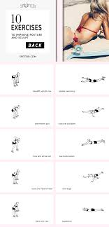 Back Exercises Gym Chart Sexy Back Workout For Women Upper Middle And Lower Back