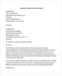 Cover Letter For Librarian Interesting 48 Librarian Cover Letters Free Sample Example Format Download
