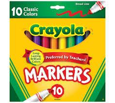Crayola Supertips 50 Color Chart Broad Line Markers Classic Colors 10 Count Crayola Com Crayola