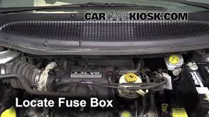 replace a fuse 2001 2004 dodge caravan 2003 dodge caravan se locate engine fuse box and remove cover