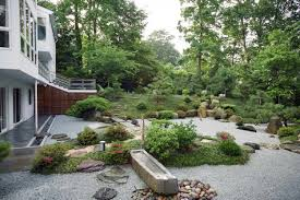 Lawn & Garden:Japanese Garden Design Plans With Red Bridge Backyard  Japanese Garden Ideas