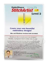 Ez Design Software Embroidery Embrilliance Stitchartist Level 2 Embroidery Design Software