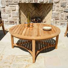 round teak coffee table berwick round