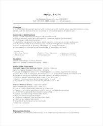 Medical Assistant Resume Objective Megakravmaga Com