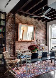 Living And Dining Room Designs 50 Bold And Inventive Dining Rooms With Brick Walls