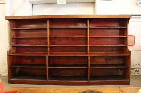 Large antique American department store wood shelves.