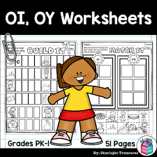 Choose the word that has a particular sound. Vowel Pairs Oi Oy Worksheets And Activities For Early Readers Phoni Starlight Treasures Resources