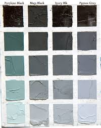 Black Color Mixing Chart Understanding Black Colours This Chart Takes Each And