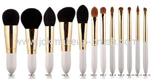 12 pcs white handle makeup brush set