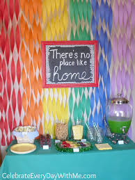 Wizard Of Oz Party Decorations Wizard Of Oz Party Family Movie Night Celebrate Every Day With Me