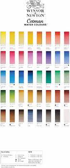 Winsor And Newton Cotman Watercolour Paint Colour Chart