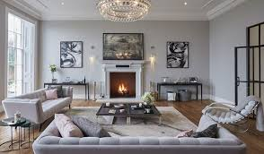 Elegant gray living room
