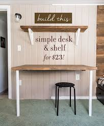 Simple DIY Wall Desk, Shelf & brackets (for under $23!)