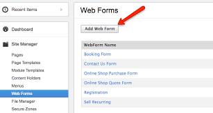 Migrating web forms from one site to another