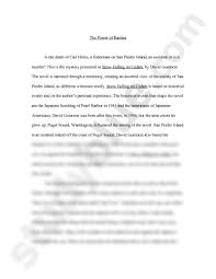 snow falling on cedars essay doc english van gerven at snow falling on cedars essay doc english 3060 van gerven at university of colorado boulder studyblue
