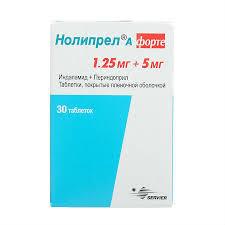 <b>Нолипрел А форте</b>, таблетки <b>5</b>+1,25 мг 30 шт. - купить, цена и ...