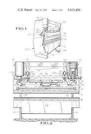 patent us3913450 hydraulic control system for press brakes or patent drawing