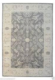restoration hardware nava gray 5x7 brand new wool 1895 persian hand knotted rug
