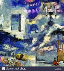 open door painting. Complex Abstract Painting. Open Door To Another World. Hourglass. Bed And Violin Painting