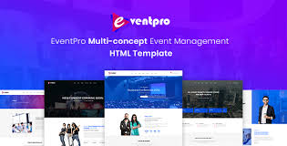 Event Website Template Cool Eventpro Events And Conference HTML Template By WPHash ThemeForest