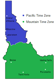 Time Zones Map In Idaho Usa Timebie
