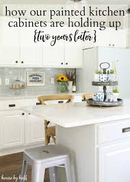 how our painted kitchen cabinets are holding up two years later house by hoff