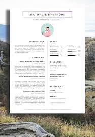 Nathalie Bystrom - Marketing CV / Resume - A Professional Approach / #Resume  #ResumeDesign
