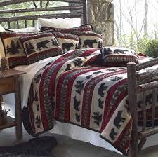 bear adventure fleece bedding set