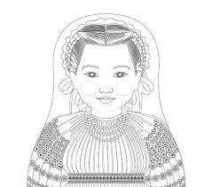 Browse your favorite printable clothes coloring pages category to color and print and make your own clothes coloring book. Croatian Doll Traditional Folk Dress Coloring Sheet Printable