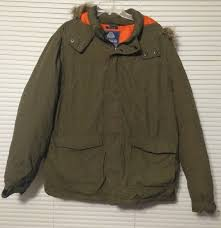 american rag men s parka coat olive green faux fur trim hood snorkel parka size