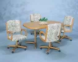 dining room chairs with arms and casters