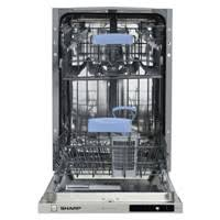 sharp qw gt24f463w en. sharp qw-s12i491x, built-in slimline dishwasher, a+, white qw gt24f463w en i