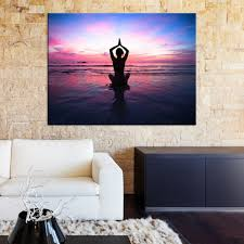 large wall art canvas print yoga towards colorful sky at sunset mygreatcanvas com extra large wall art wall art print large world map canvas print
