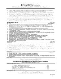 Financial Manager Resume Finance Resume Format Resume Samples