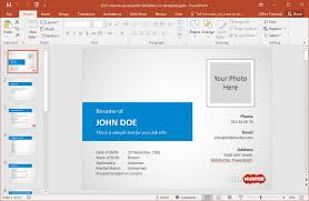 Powerpoint Resume Template Free Download Best Of Powerpoint Resume Template Commily