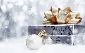 silver and gold christmas wallpaper.  Silver Silver And Gold Christmas Wrapped Gift Desktop Wallpaper O