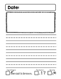 Kindergarten Writing Pages Cute Kindergarten Journal Writing Pages With Good Writing Checklist