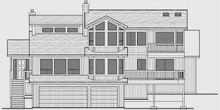 house front drawing elevation view for 10165 sloping lot house plans daylight basement house plans