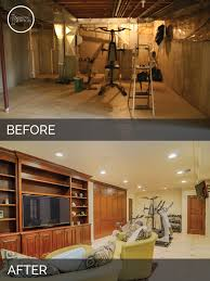 Steve  Anns Basement Before  After Pictures Basements - Ununfinished basement before and after