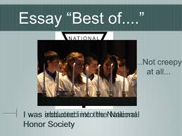 "college application essay good luck essay ""best of "" i made  4 essay """