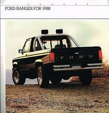 Details About 1988 Ford Ranger Pickup Truck Brochure Catalog W Color Chart Xlt Stx S Pick Up