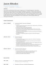 Qa Manager Resume Examples