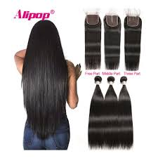Hair Length Chart Bundles Remy Straight Hair Bundles With Closure Peruvian Hair