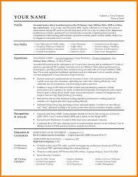 Veterans Resume Builder Military Resume Builder Free Resume Builder