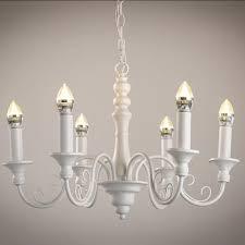retro rustic 3 light 6 light candelabra metal chandelier in white