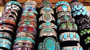 rows of native american bracelets gallup new mexico