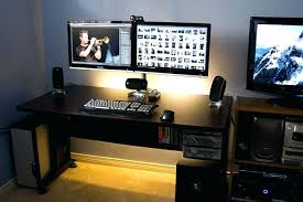 computer desk with monitor mount desk mounted computer monitor stand