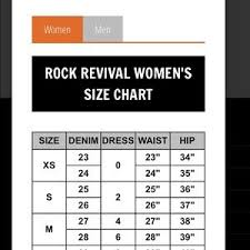 Rock And Revival Size Chart Rock Revival Elaina Boot Cut Jeans