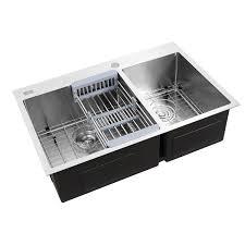 30x16 Double Bowl Stainless Steel Undermount Mount Kitchen Sink
