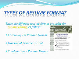 TYPES OF RESUME ...
